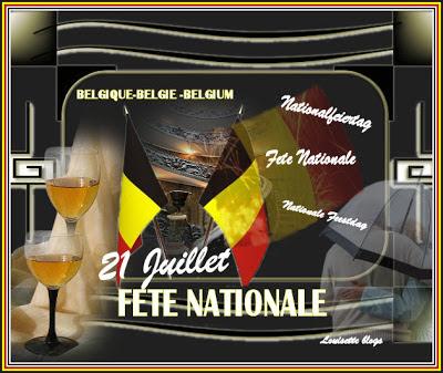 feestdag belgie, belgium national feiertag, fête nationale, belge, psp louisette, retriever
