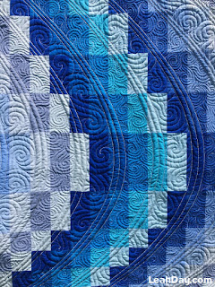 Learn how to piece and quilt a bargello quilt with Leah Day