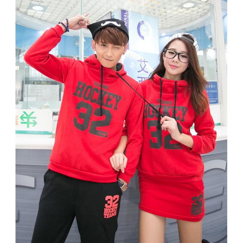 Jual Jumper Couple Jumper Hockey SS Merah - 23200