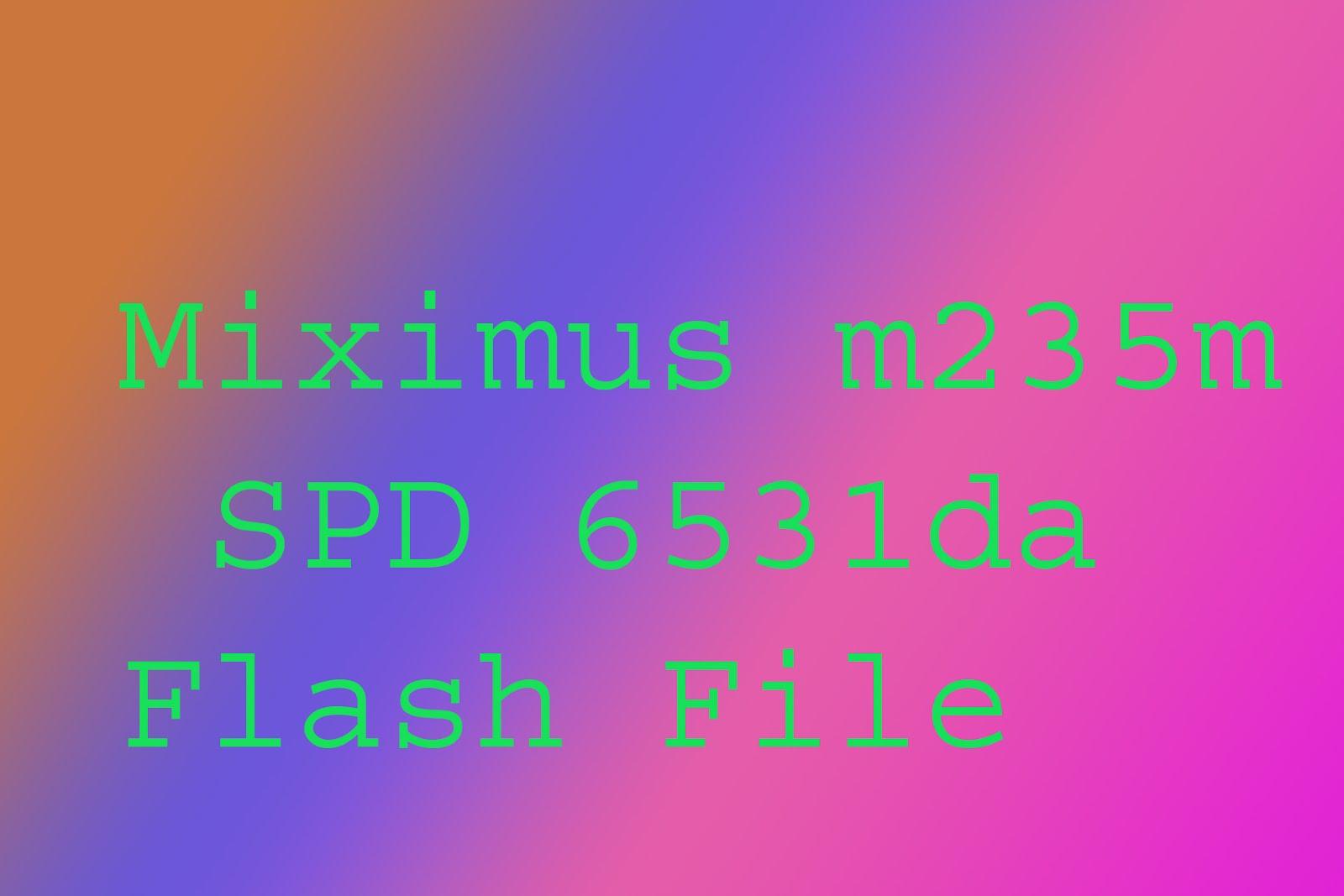 Maximus M235m SPD 6531da Fimware file