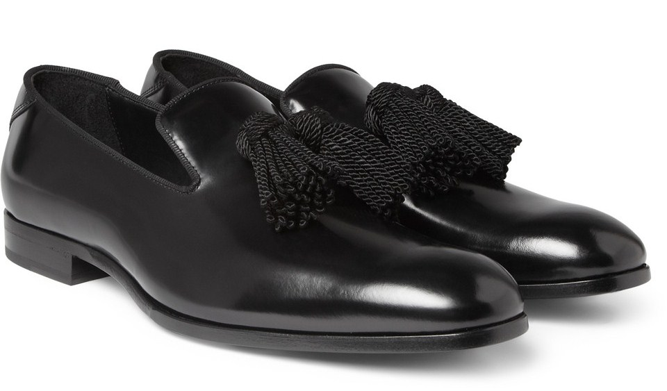 b595048afa6 Jimmy Choo is serving it up nice for its mens footwear range with this  foxley tasseled loafers. It s high sheen leather and ubiquitous tassels  create some ...