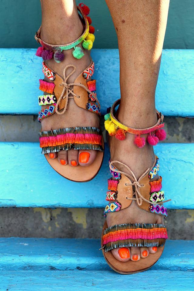 Elina Linardaki fashion designs, fashion design, famous fashion designers, Beautiful handmade sandals made in Greece by designer Elina Linardaki