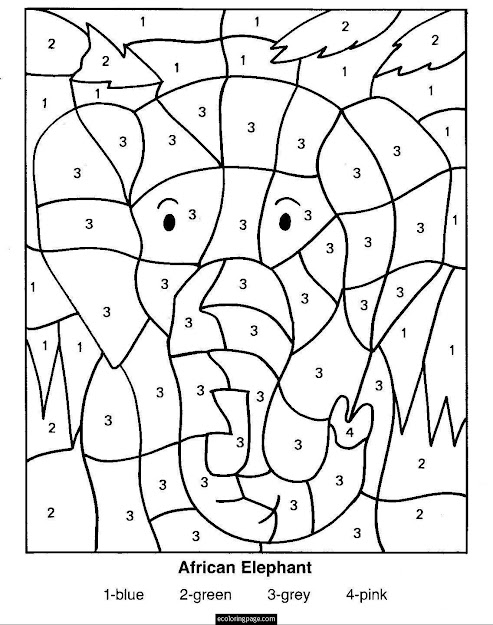 Color By Numbers Coloring Pages For Kids  Coloring Pages  Pictures Free Printable  Coloring Pages For Variety Themes That You Can Print Out And Color