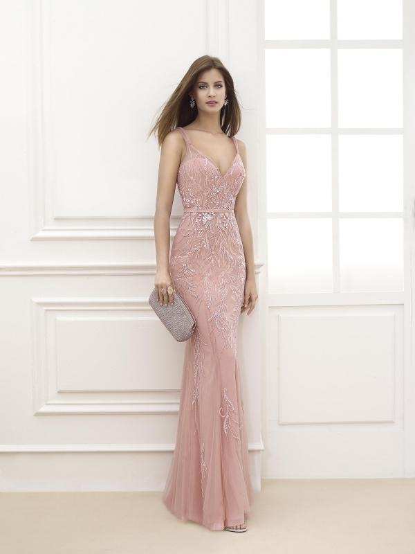 Vestidos elegantes de noche 15 look fabulosos 101 vestidos de moda 2018 2019 - Color rosa empolvado ...