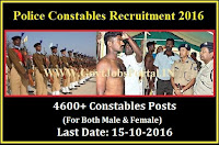 Delhi Police Recruitment 2016 For 4600+ Constables Posts Apply Online Here