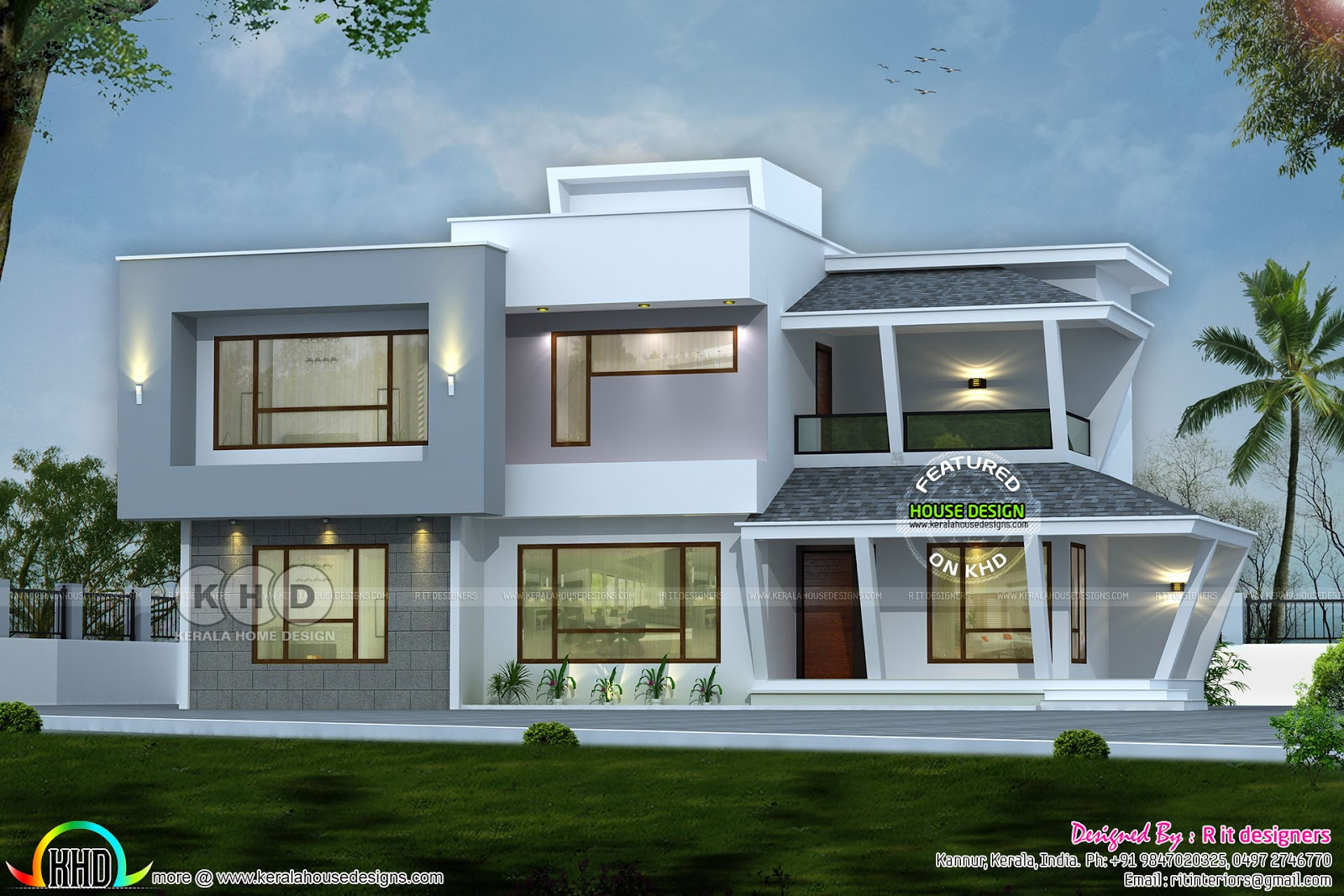 2892 Sq Ft Modern House With Construction Cost Kerala Home Design