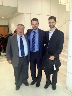 Ο Βαγγέλης Αυγουλάς με το Δημοτικό Σύμβουλο Τρίπολης κ. Παπαχρόνη και με τον Αρκά Εκπαιδευτικό κ. Γκιώνη