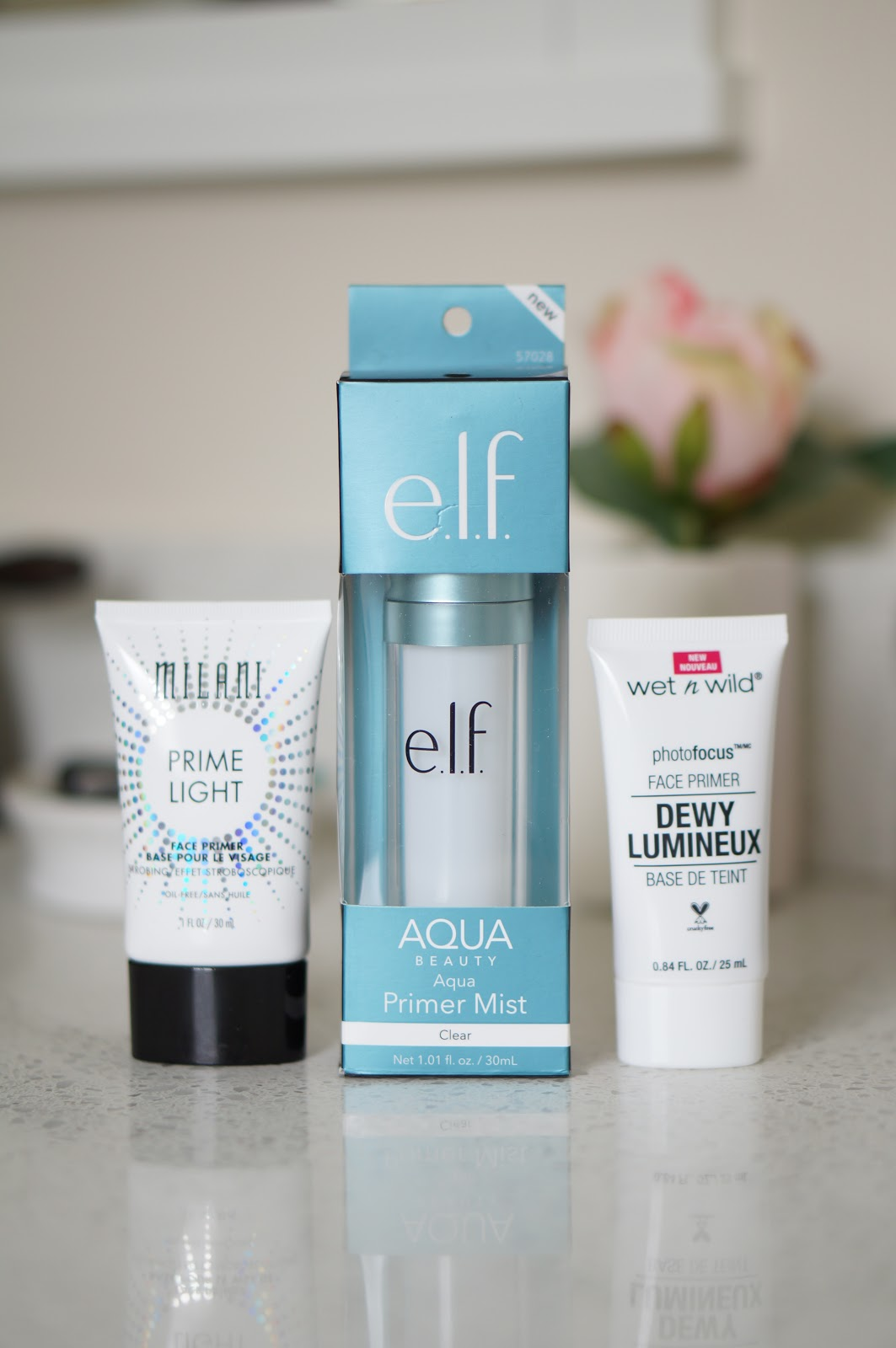 Popular North Carolina style blogger Rebecca Lately shares three dewy face primers from the drugstore. Click here to read about them and which one is the best.