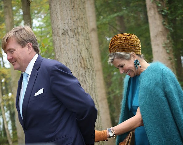 Queen Maxima wore Natan Dress and Gianvito Rossi Suede Pumps