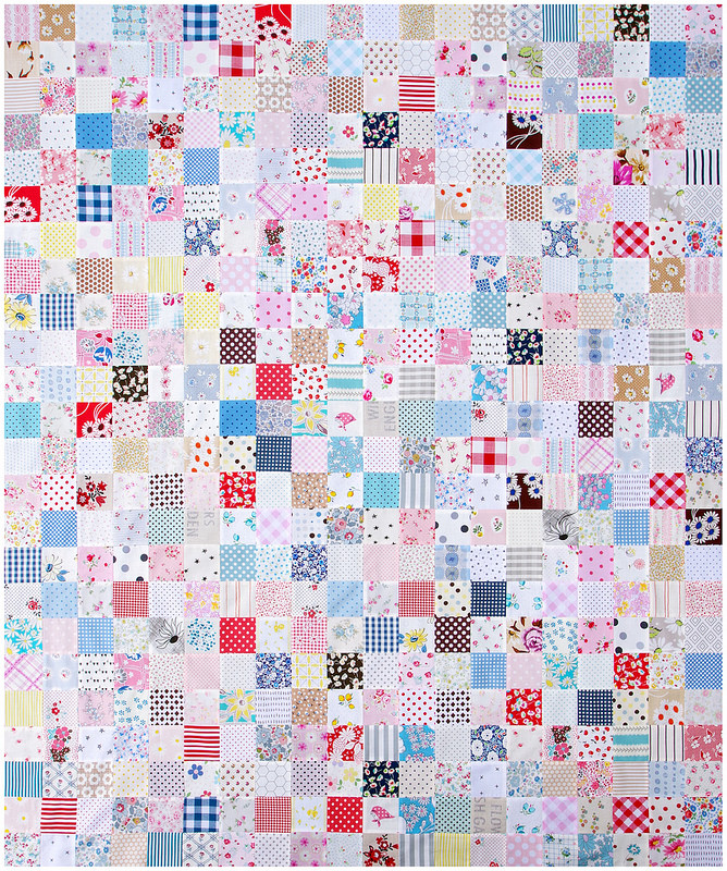 For the Love of Patchwork ~ Quilt in Progress | © Red Pepper Quilts 2017