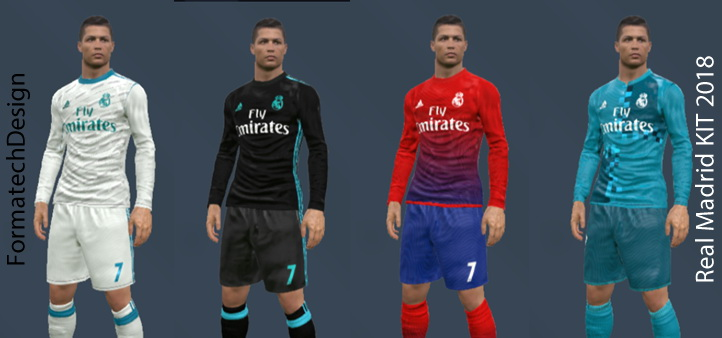 Pes-modif: PES 2017 Real Madrid 2017-2018 Kit By Formatech