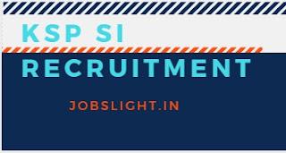 KSP SI Recruitment 2017