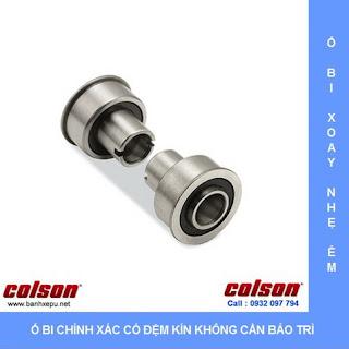 Bánh xe cao su xoay có khóa chịu lực 70kg | STO-3856-448BRK4 sử dụng ổ bi
