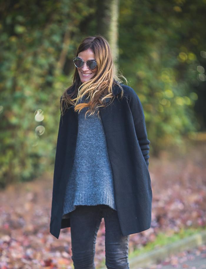 Abrigo Negro , jersey Punto , Personal Shopper , Shop Online , Es cuestión de estilo , Lucía Díez .