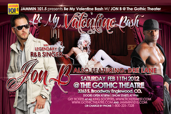 Jon B Valentine's Day Concert Flyer Design Back