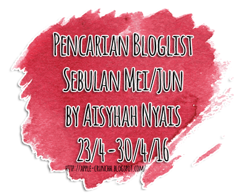Pencarian Bloglist Sebulan Mei/Jun by Aisyhah Nyais