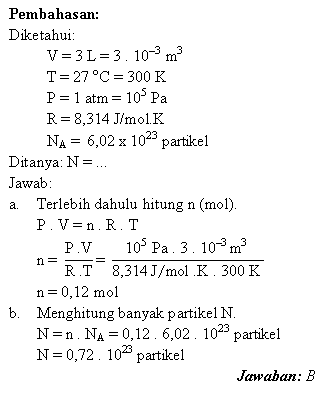 Pembahasan soal persamaan unum gas ideal