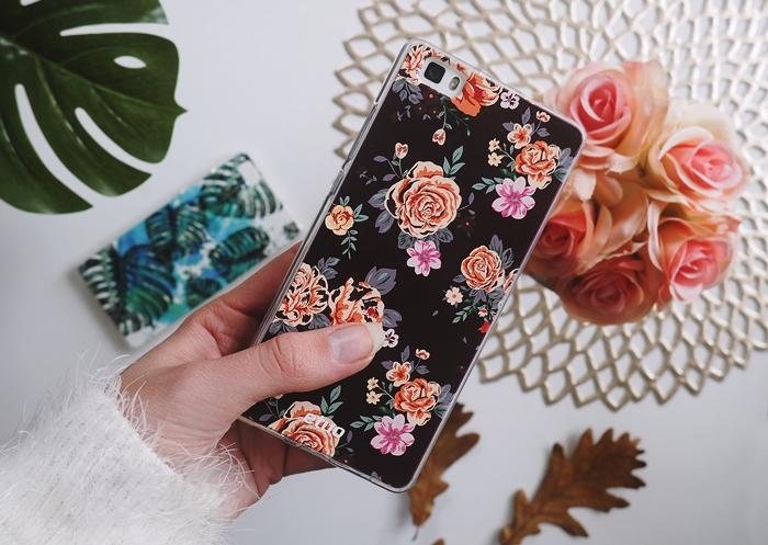 jesienna obudowa na telefon, etui w kwiaty
