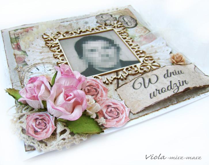 kartka vintage na 80 urodziny