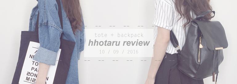 e612aeca7b Hhotaru Review - tote + backpack