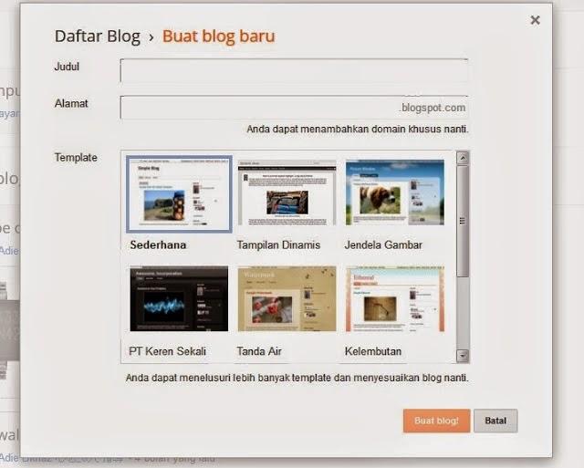 cara membuat blog baru gratis di blogspot atau blogger belajar komputer dasar palu