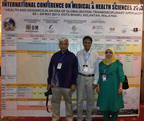 With Fellow Colleagues at ICMHS, 2013, Malaysia