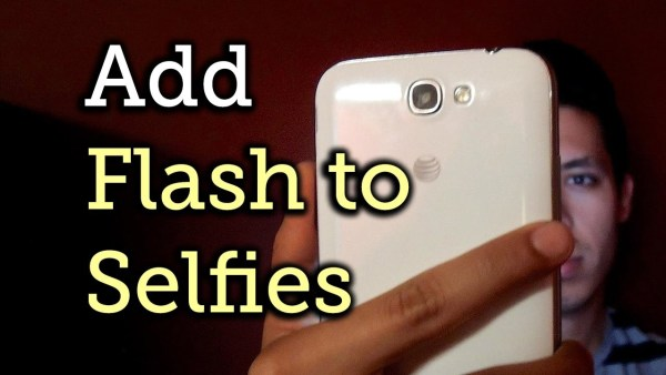 How to add front facing flash to your smartphone