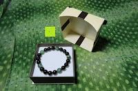 Box öffnen: AmorWing 10mm Obsidian und Ruby Zoisit Gebetsarmband vom Einfachen Stil für Damen/Herren