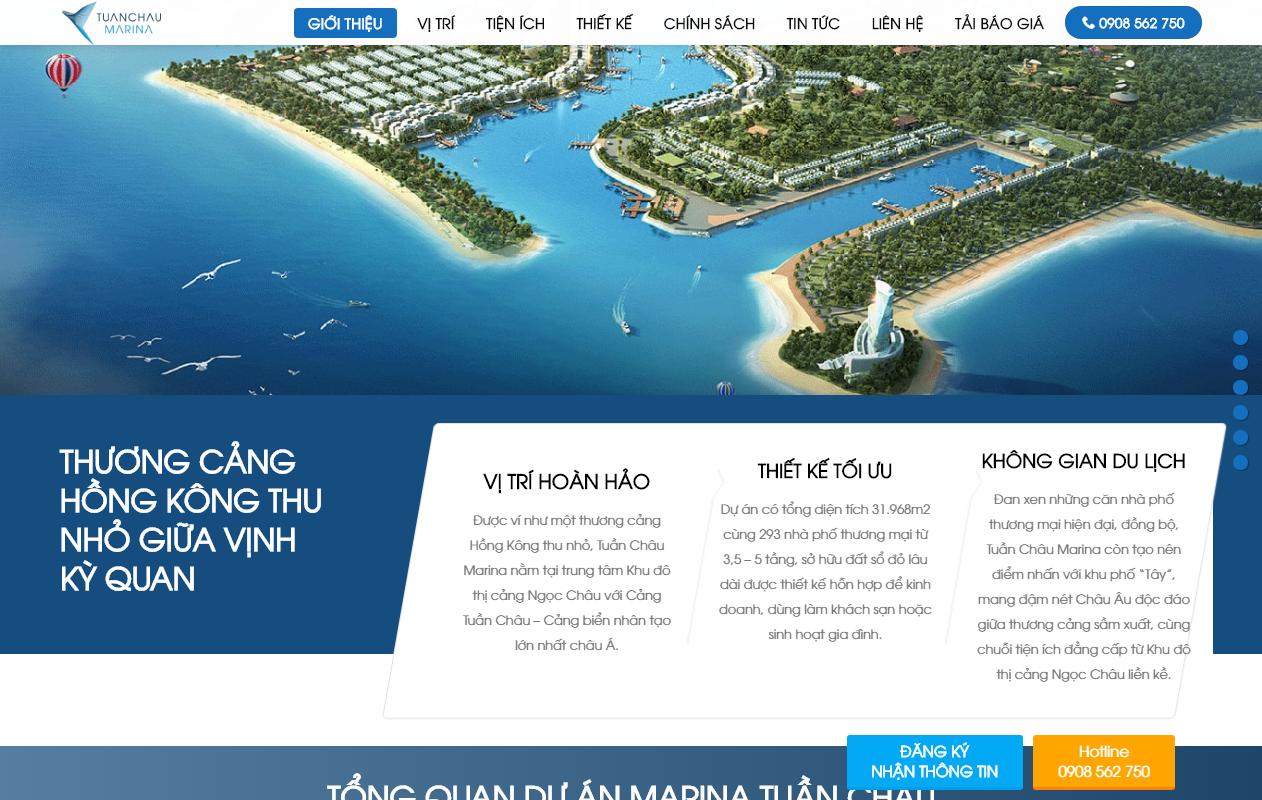 Landing Page Blogger Template BĐS Dự án Căn hộ Tuần Châu Marina Hạ Long