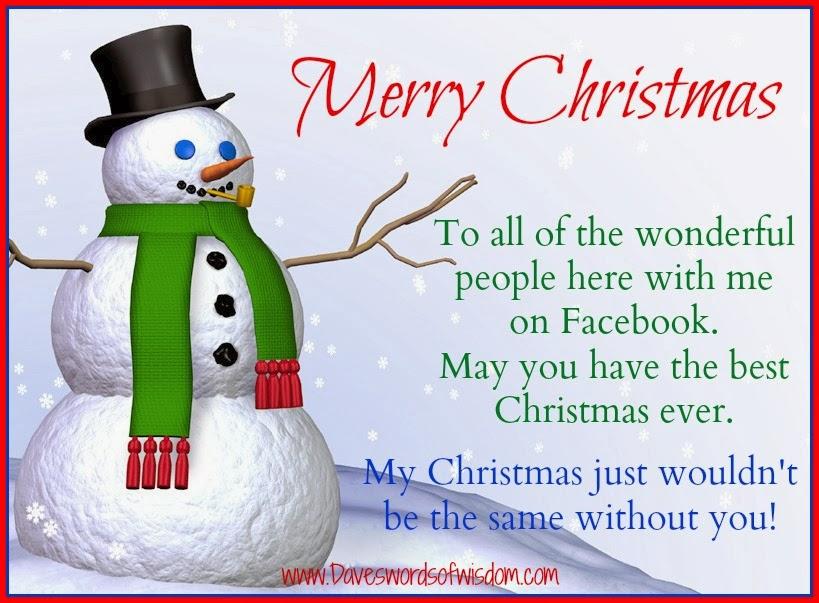 Daveswordsofwisdom.com: Merry Christmas to my Facebook family and ...