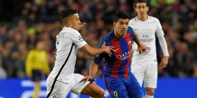 Reaksi Barca Vs PSG, Marquinhos hampir menembak Luis Suare