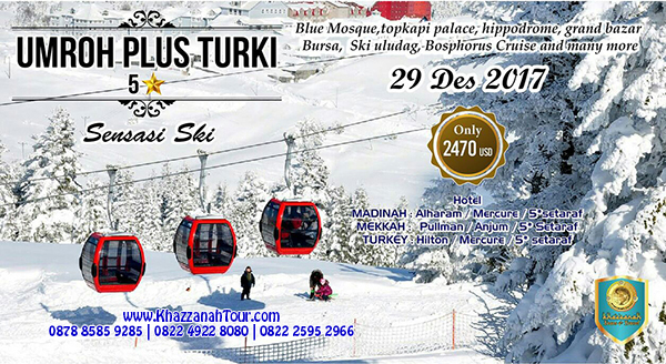 Paket Umroh Plus Turki 2017 Saat Salju
