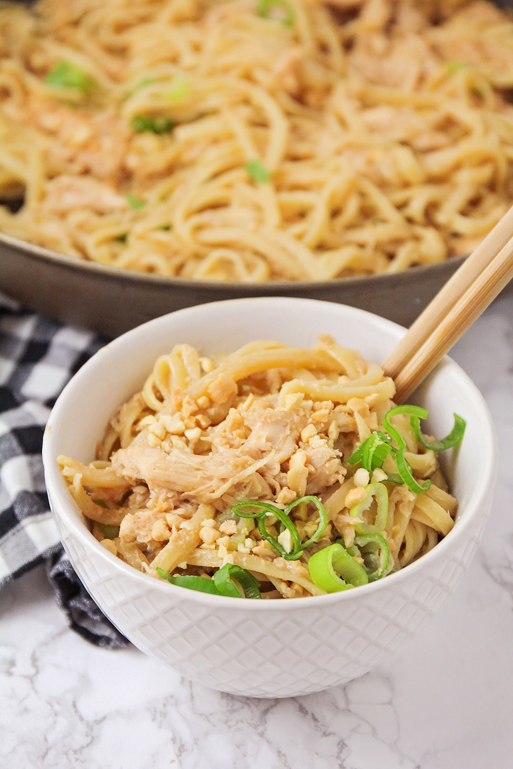 These thai peanut noodles are a savory and flavorful 30 minute meal that the whole family will love!