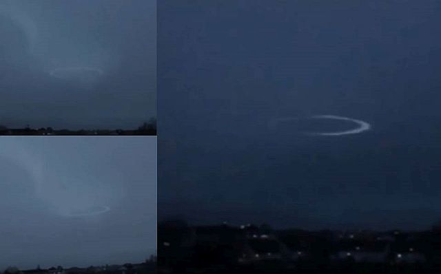 UFO News - UFO becomes visible after it is hit by lightning and MORE Ufo%2Blightning%2Bstrike%2Bvideo%2Banalysis