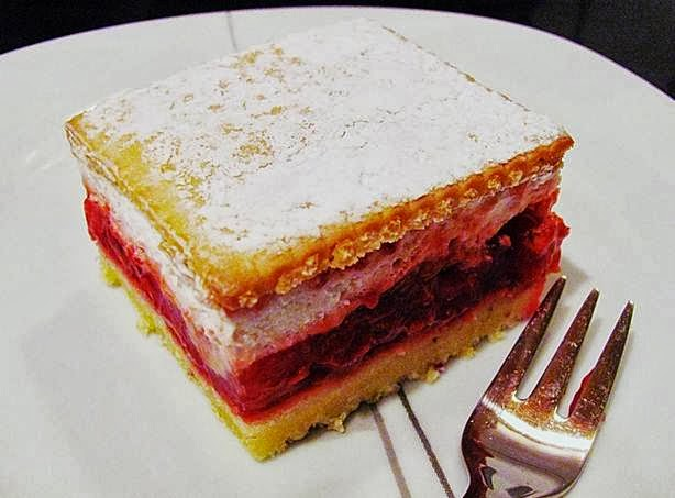 Kitchen Love Sahniger Himbeer Keks Blechkuchen Schnelle Kuche