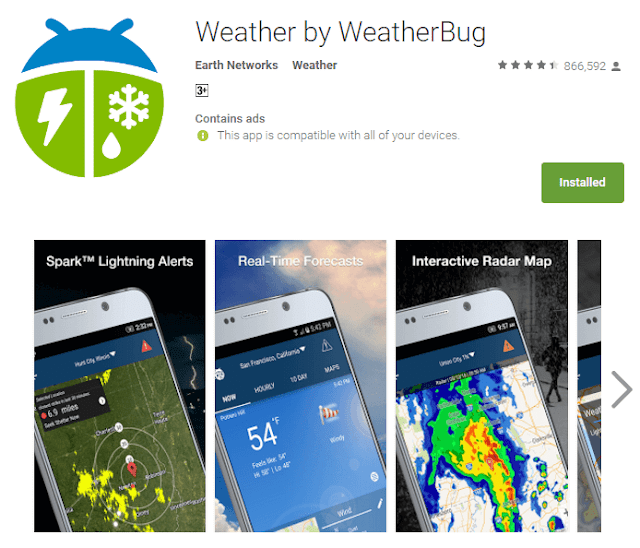 weather bug android app