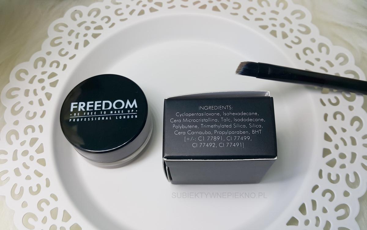Freedom pomada do brwi Blonde - opinie, blog, recenzja, skład, swatche