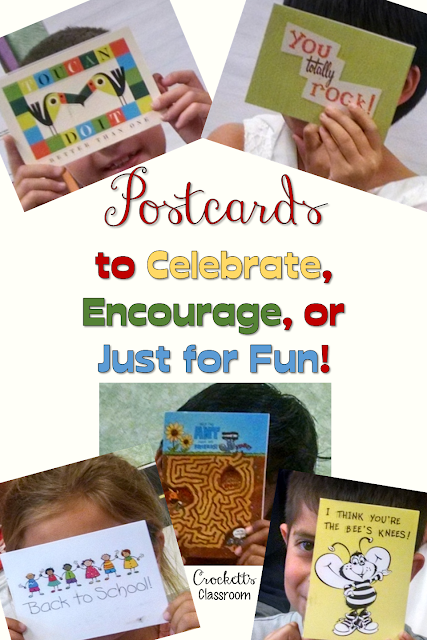 Kids love getting real mail! Send them a postcard when they need a little encouragement, to celebrate an accomplishment, or just for fun!