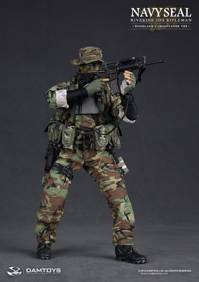 Preview Dam Toys 1 6 U S Navy Seal Riverine Ops Rifleman