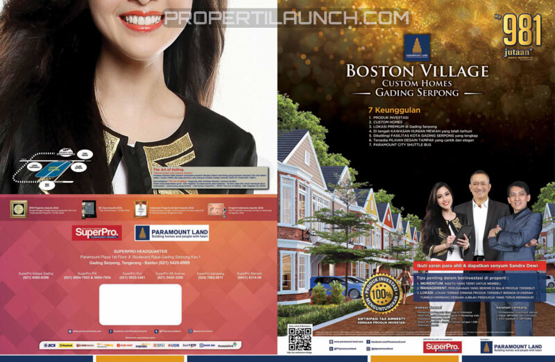 Boston Village -Brosur Rumah Cluster Baru Gading Serpong