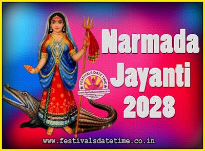 2028 Narmada Jayanti Puja Date & Time, 2028 Narmada Jayanti Calendar