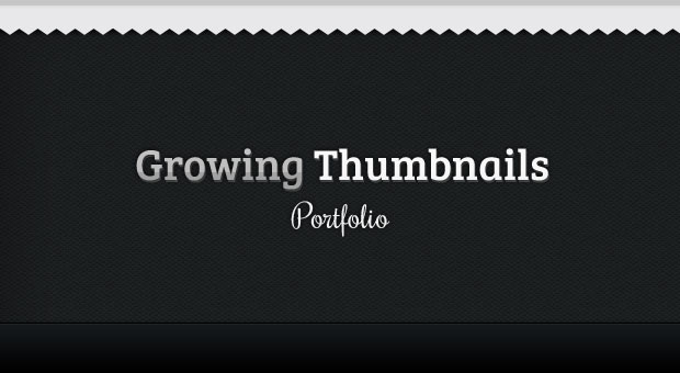 Tutorial Growing Thumbnails Portfolio