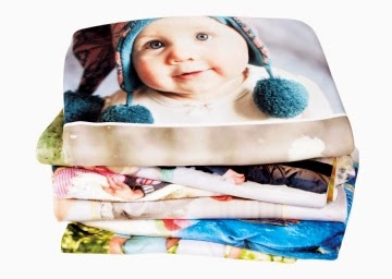 Photo blanket, customized fleece throw