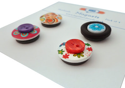 Magnets made from buttons