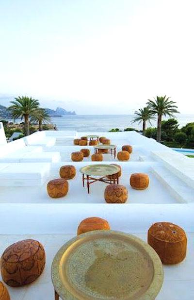 Balcony view and sea Morocco
