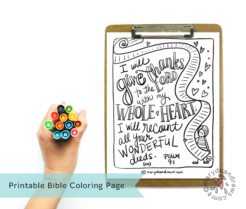 The Recount Psalm 91 Printable Bible Coloring Page In English And Spanish