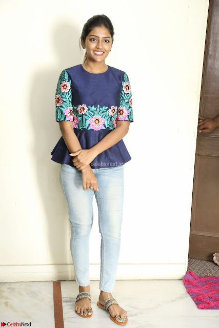 Eesha Looks super cute stunning in Denim Jeans and Top at Darsakudu movie Inerview ~  Exclusive 003.JPG