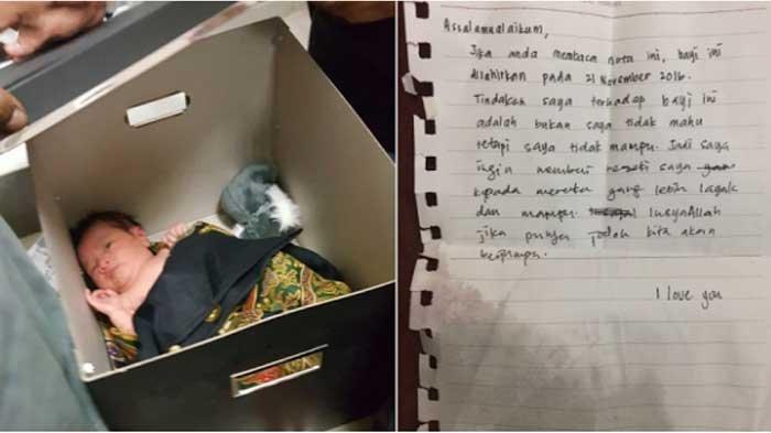 Orang Tua Buang Bayinya di Masjid, Tinggalkan Sepucuk Surat