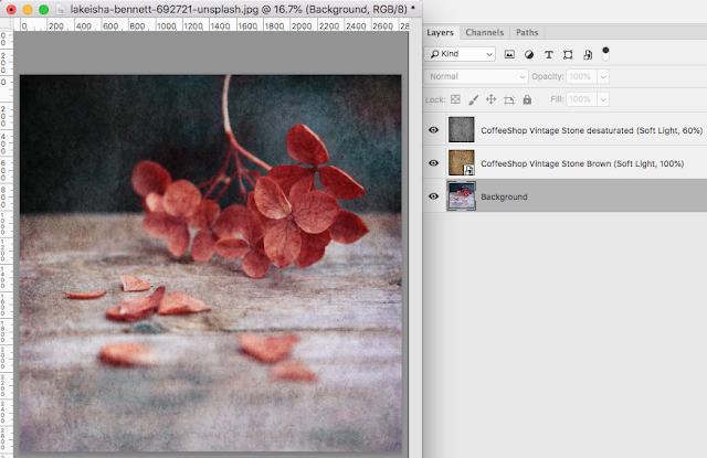 "CoffeeShop ""Vintage Stone"" Fine Art Texture/Overlay Set!"