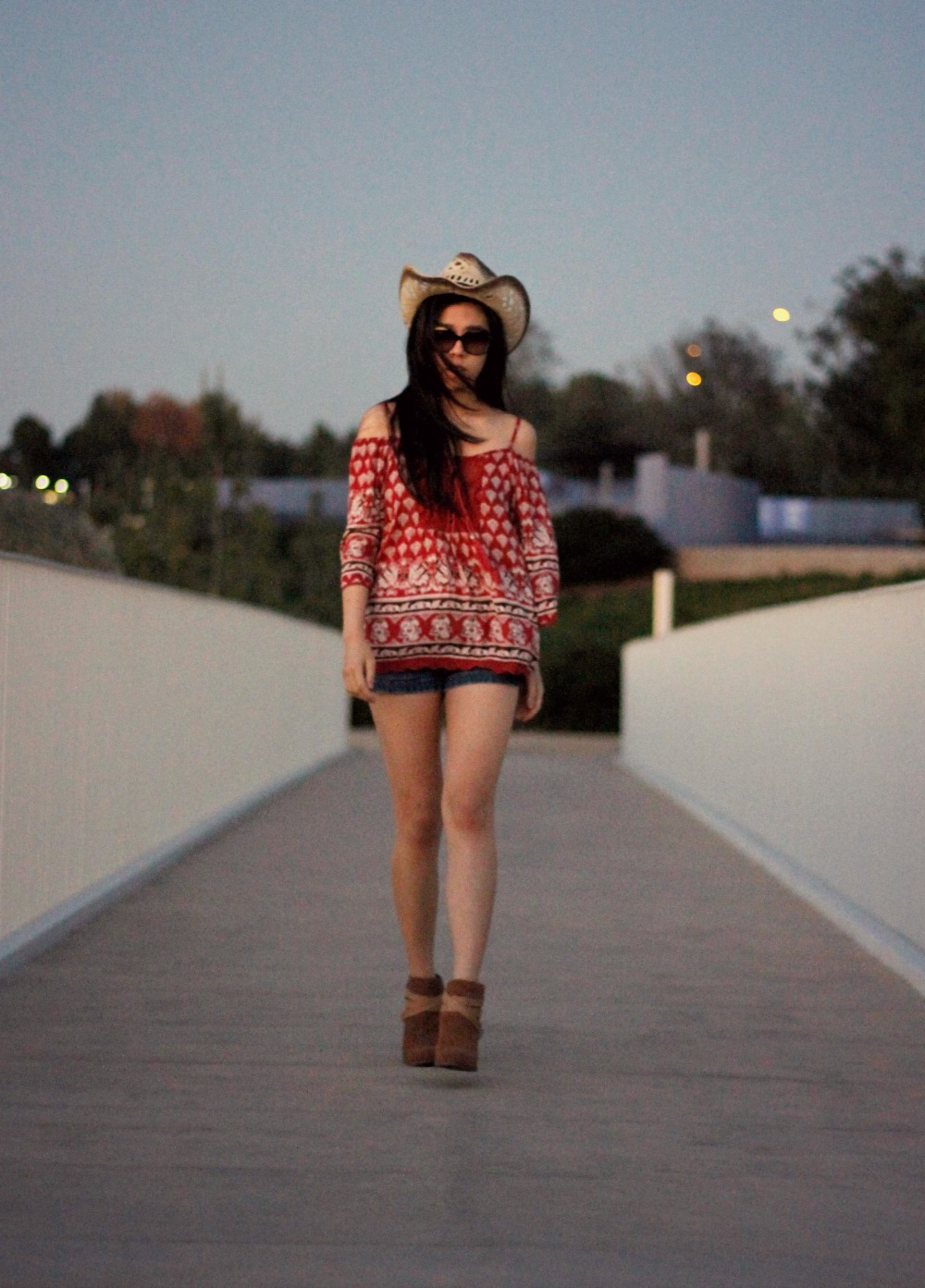 coachella outfit_cowboy hat_boots_perforated dolce vita suede leather booties